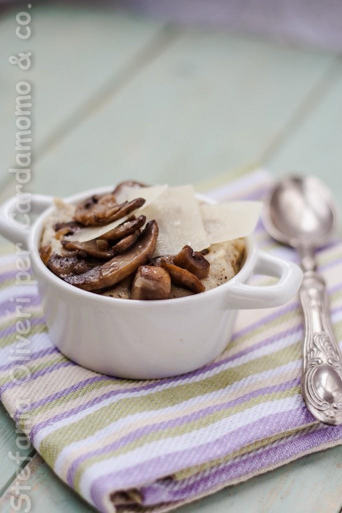 Polenta, funghi e formaggio - Cardamomo & co