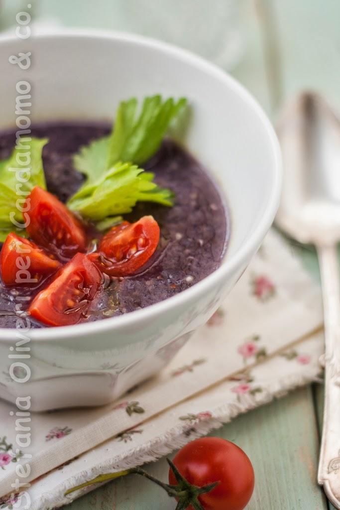 Zuppa di quinoa con cavolo viola - Cardamomo & co