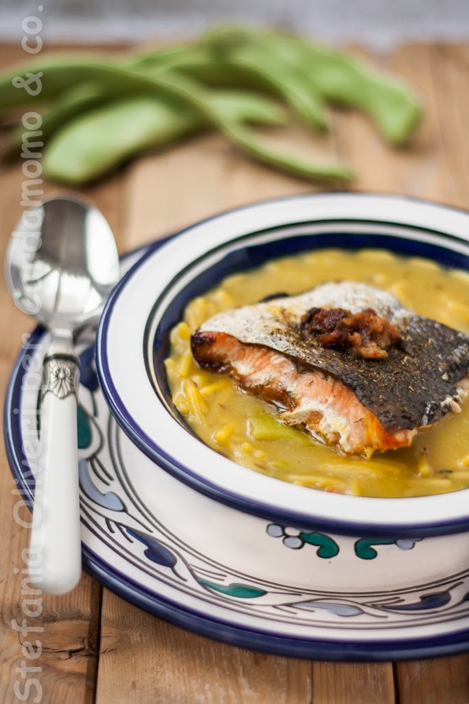 Salmone all'orientale e noodles in brodo - Cardamomo & co