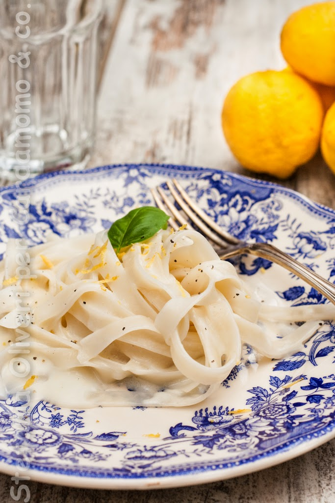 Tagliatelle di shirataki al limone - Cardamomo & co