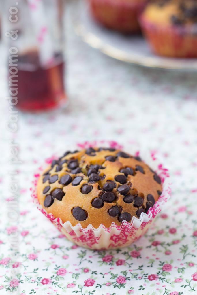 Muffin senza glutine con gocce di cioccolato - Cardamomo & co