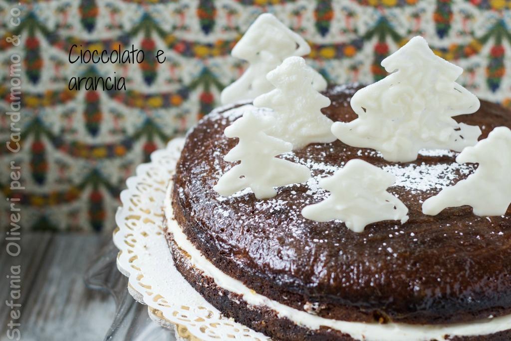 torta natalizia cioccolato bianco e arance