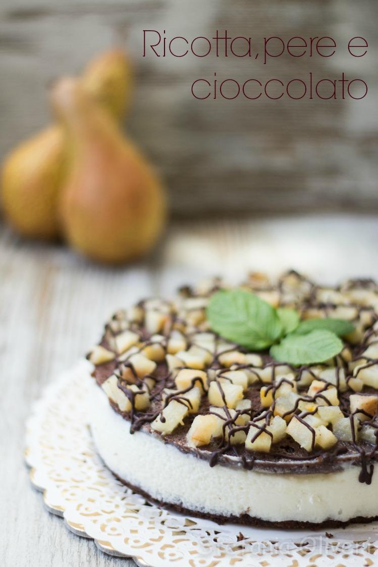 Torta di Ricotta pere e cioccolato senza glutine - Cardamomo & co