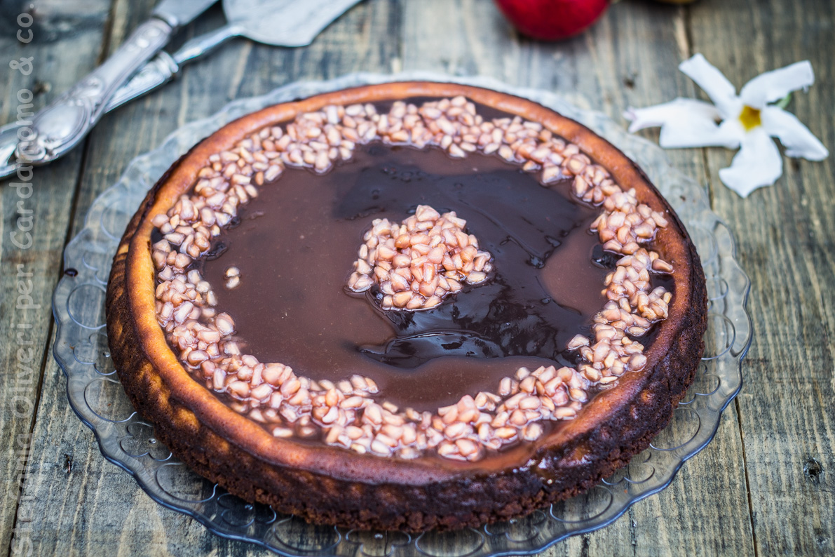 Cheesecake al cioccolato e melograno - Cardamomo & co