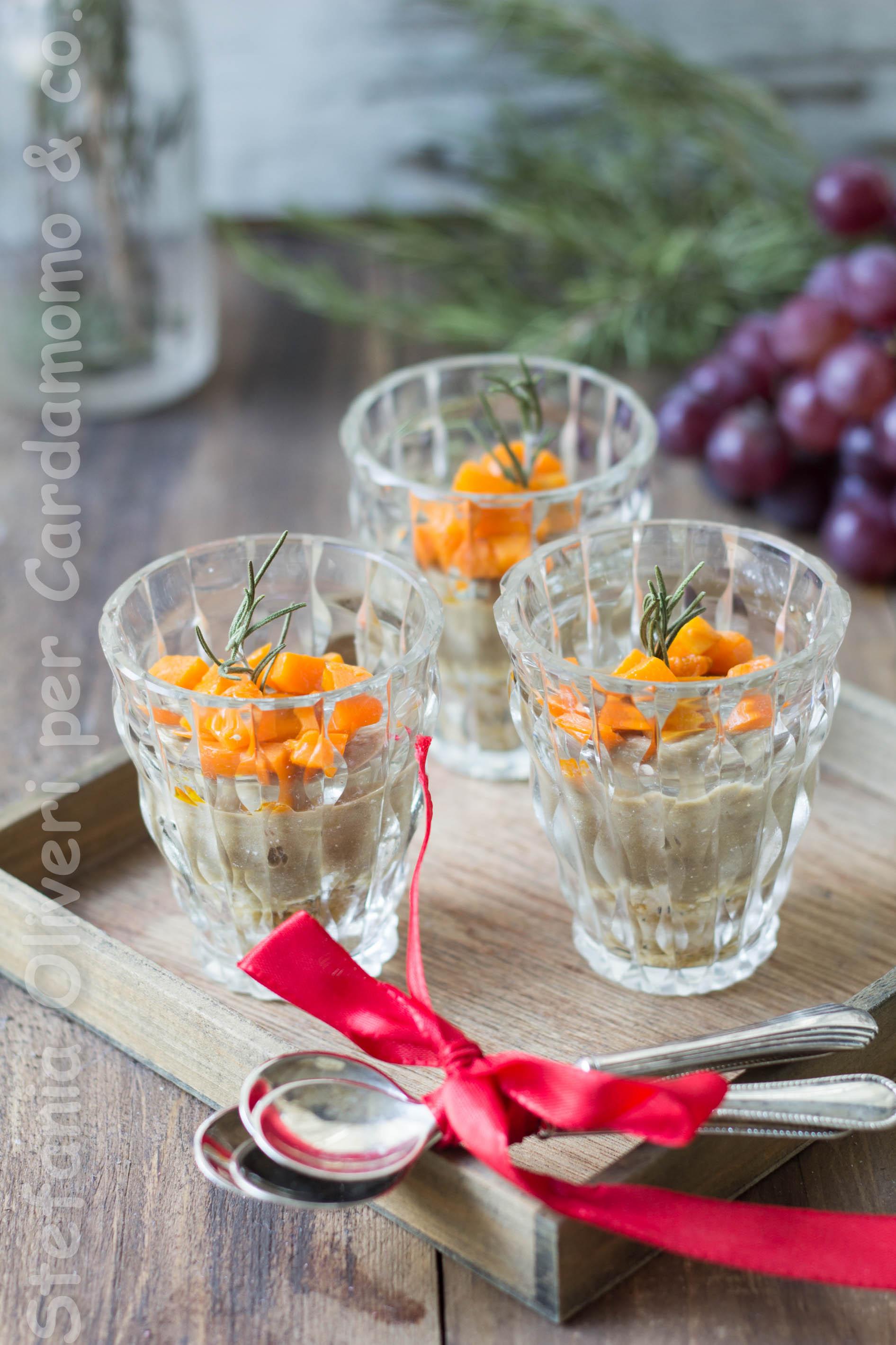 Cheesecake salato zucca e lenticchie antipasto natalizio Cardamomo & co