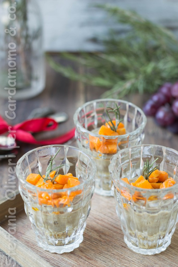 antipasto in bicchiere lenticchie e zucca 4890