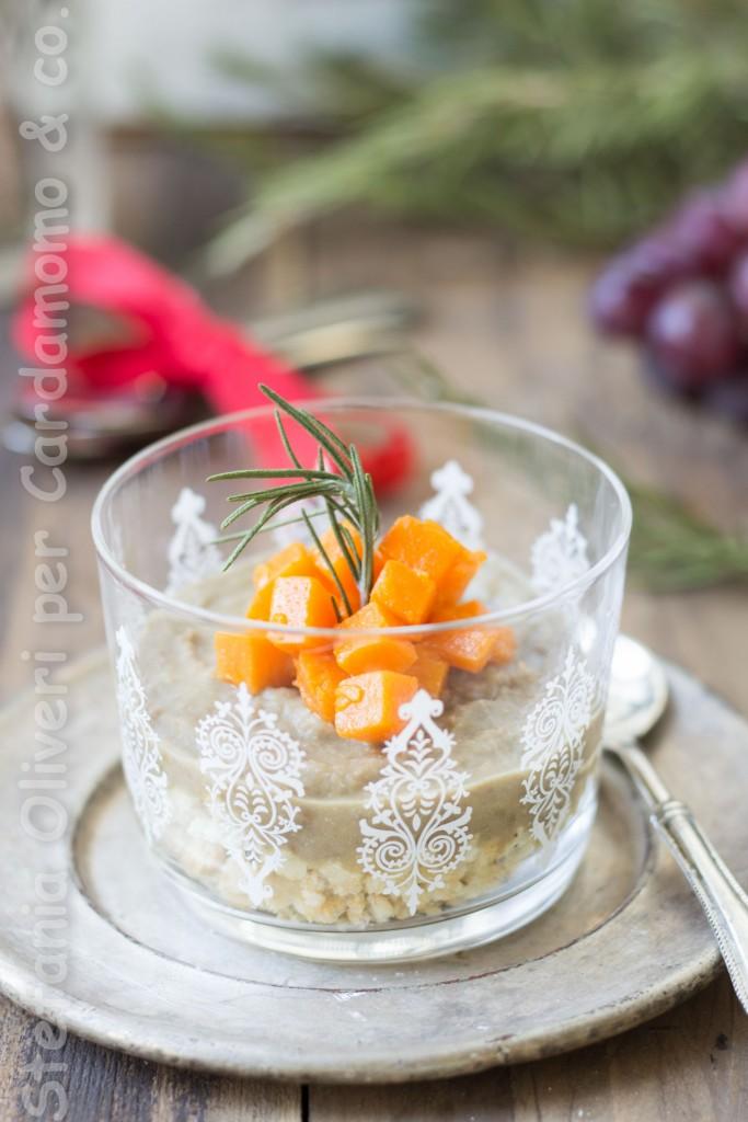 antipasto in bicchiere lenticchie e zucca 4895