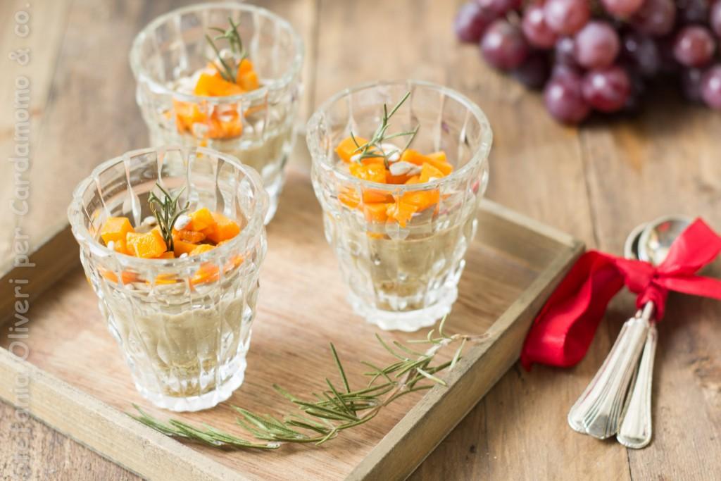 antipasto in bicchiere lenticchie e zucca 4904
