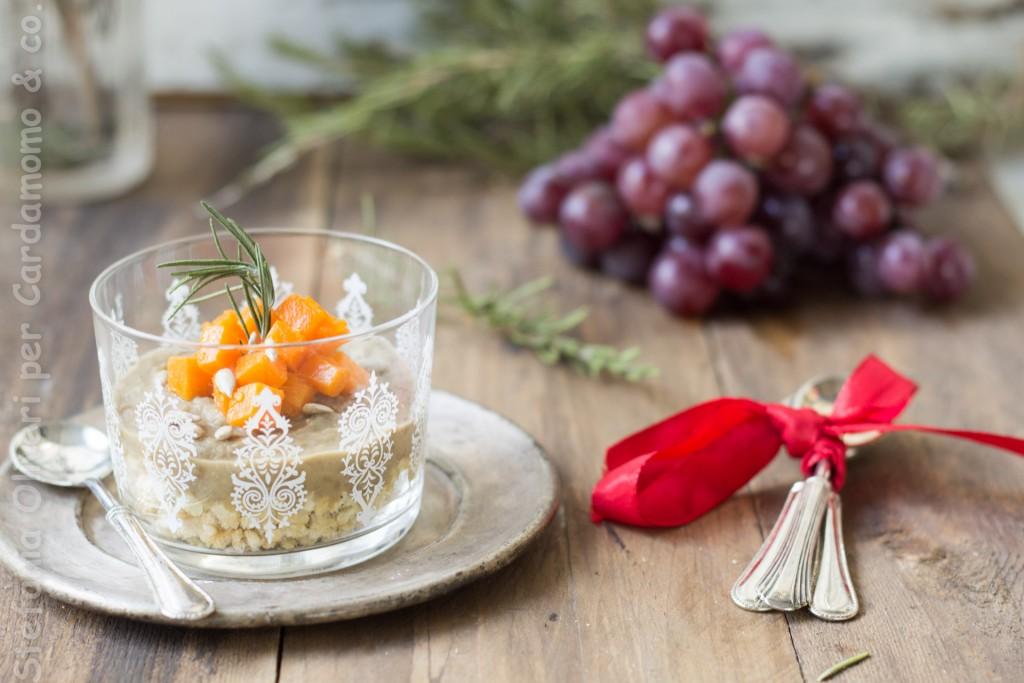 antipasto in bicchiere lenticchie e zucca 4907