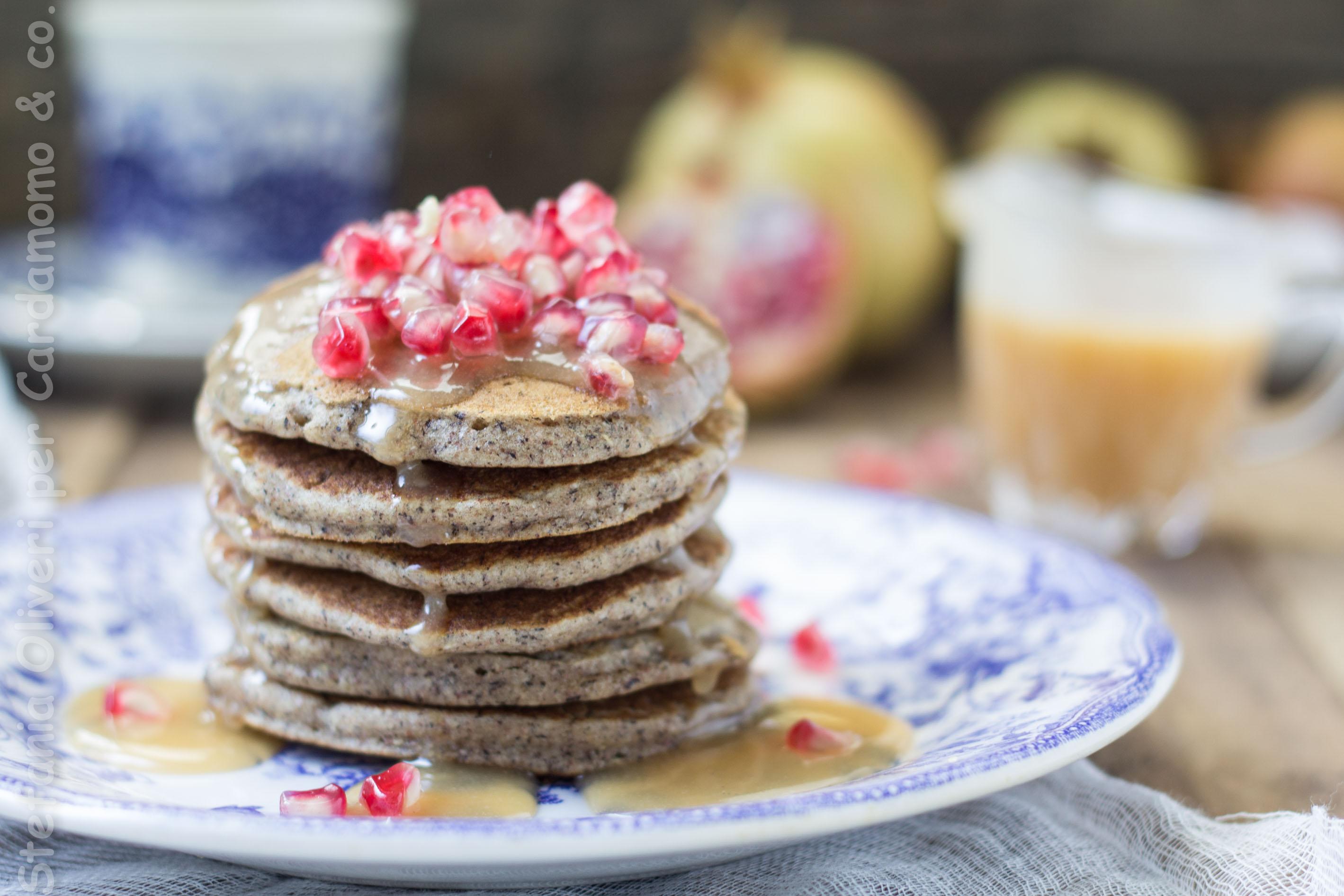Pancakes grano saraceno con caramello salato - Cardamomo & co