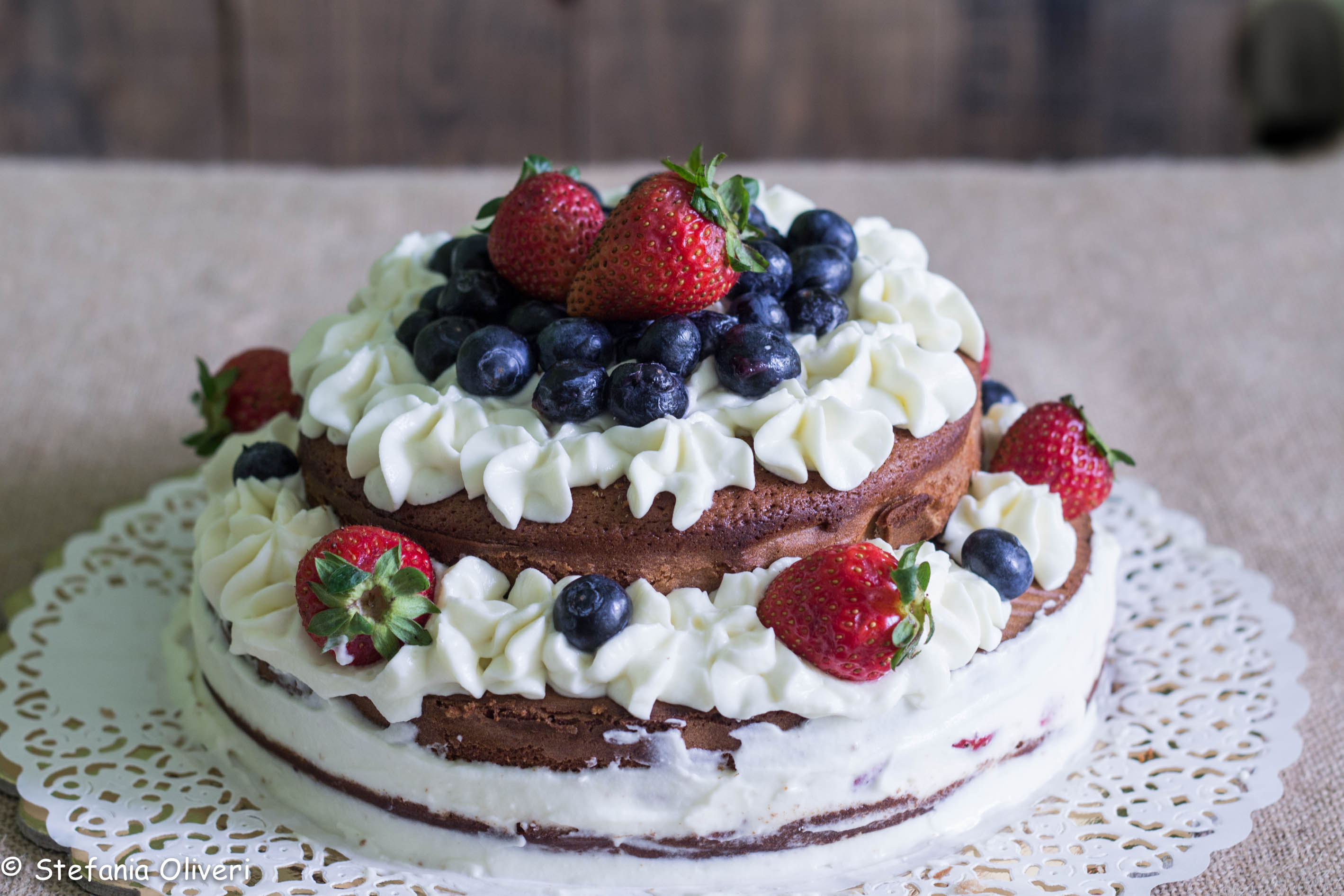 Naked Cake alle castagne e cioccolato bianco - Cardamomo & co