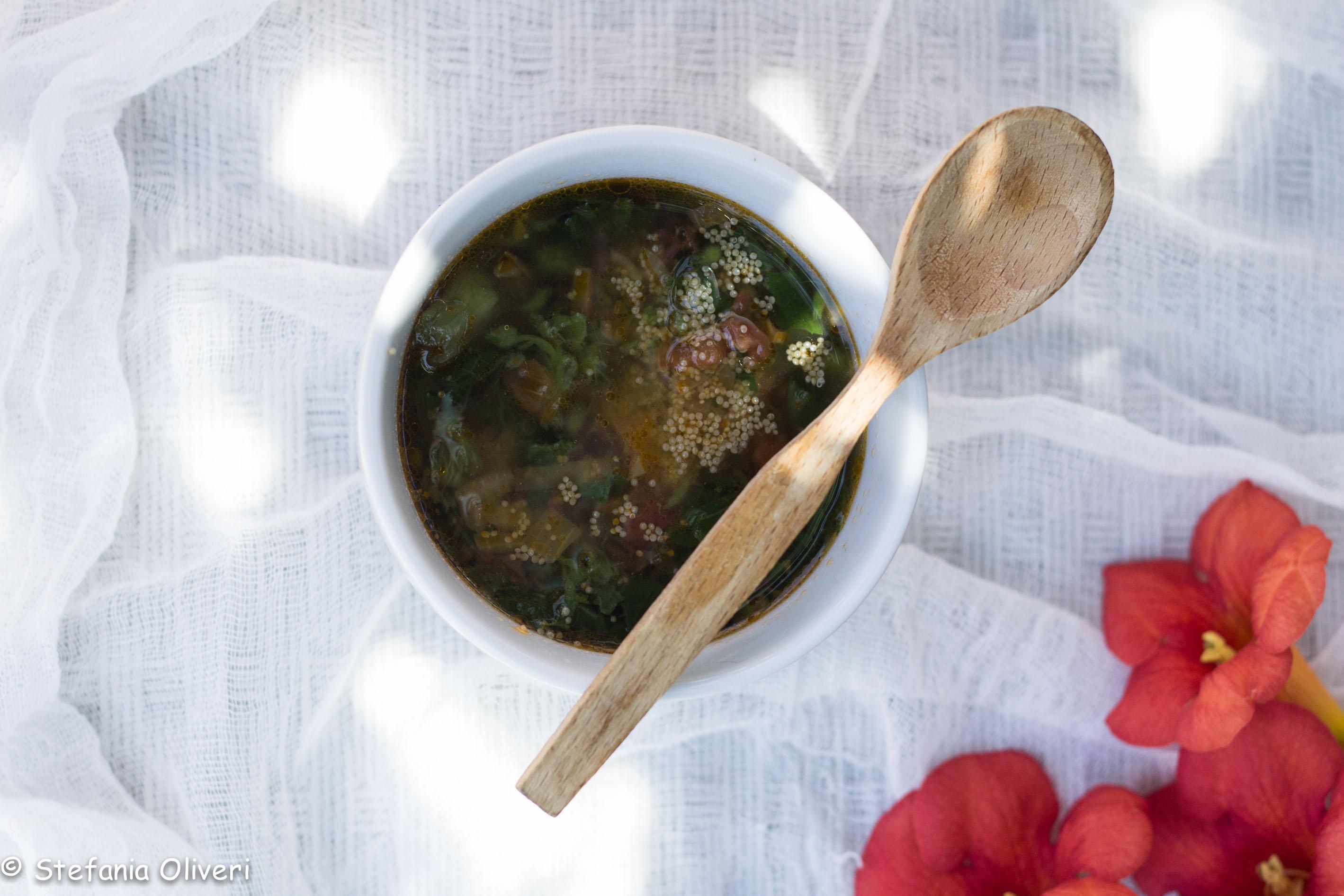 Zuppa di amaranto con tenerumi