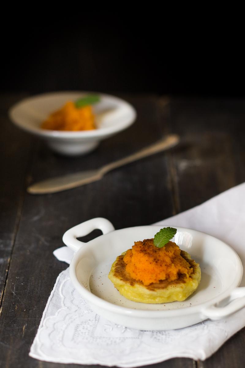 blinis senza glutine crema di carote