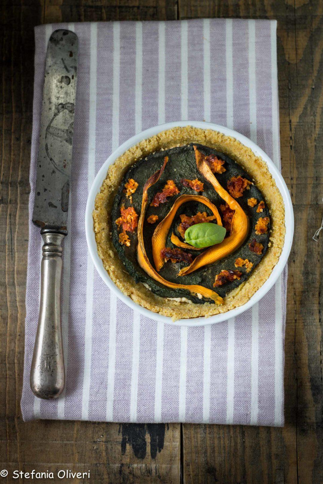 Torta salata vegan e senza glutine - Cardamomo & co