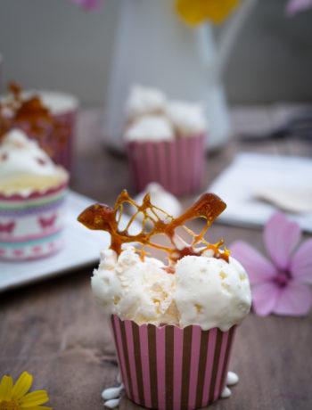 Gelato senza gelatiera con meringhe e caramello - Cardamomo & co