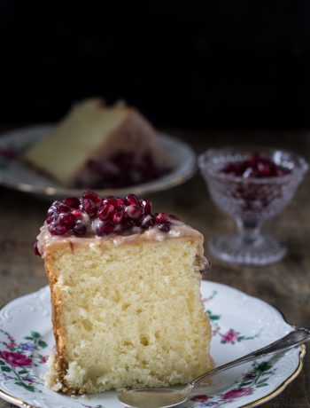 Chiffon cake senza glutine con crema alla nocciola e melograni-Cardamomo & co