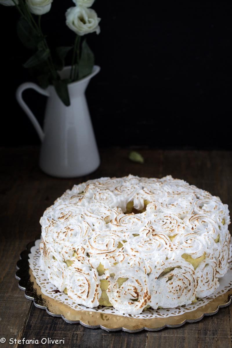 Chiffon cake con crema all'arancia e meringa - Cardamomo & co