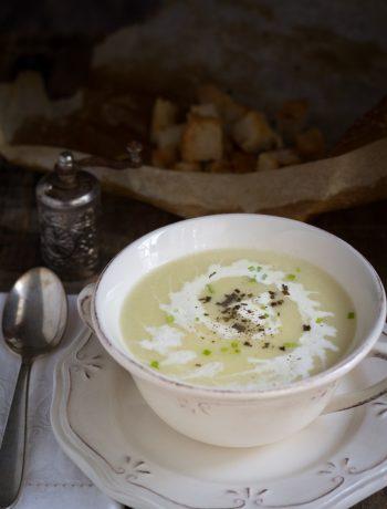 Vichyssoise zuppa di porri senza glutine - Cardamomo & co