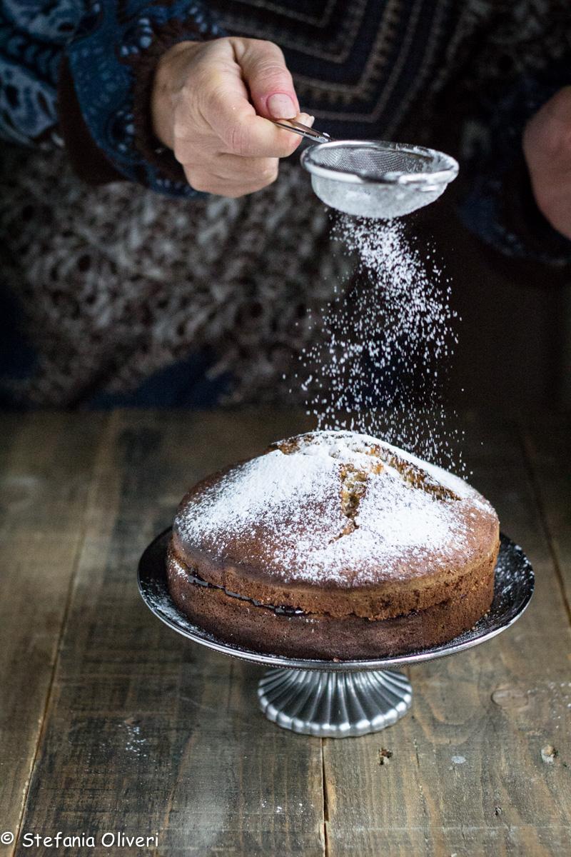 Torta di grano saraceno senza glutine e marmellata di mirtilli - Cardamomo & co