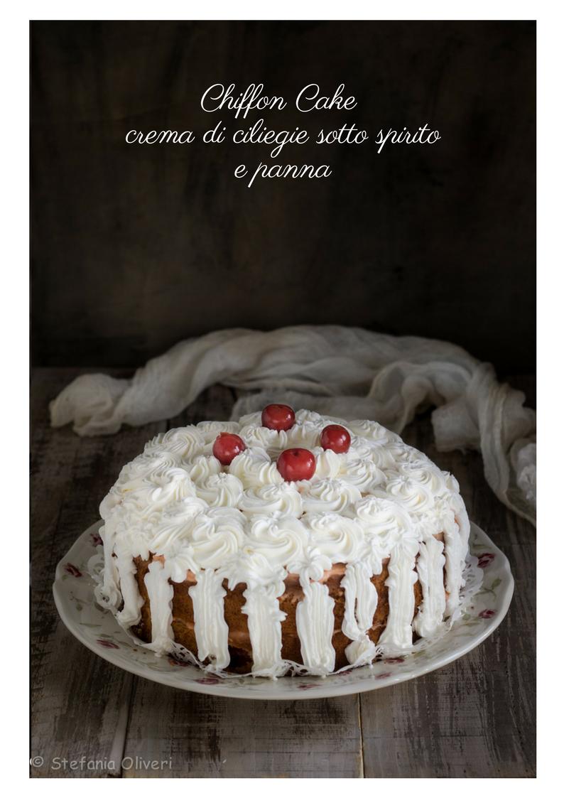 Chiffon Cake alla crema di ciliegie e panna - Cardamomo & co