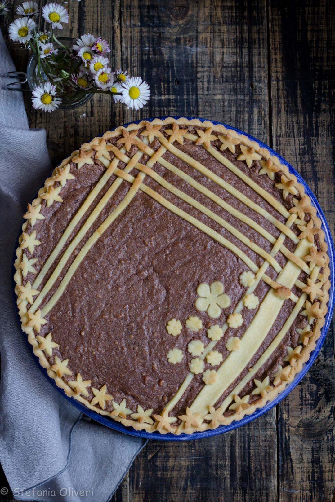 Crostata con ricotta e Nutella senza glutine - Cardamomo & co