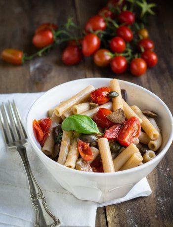 Pasta alla Puttanesca senza glutine -Cardamomo & co