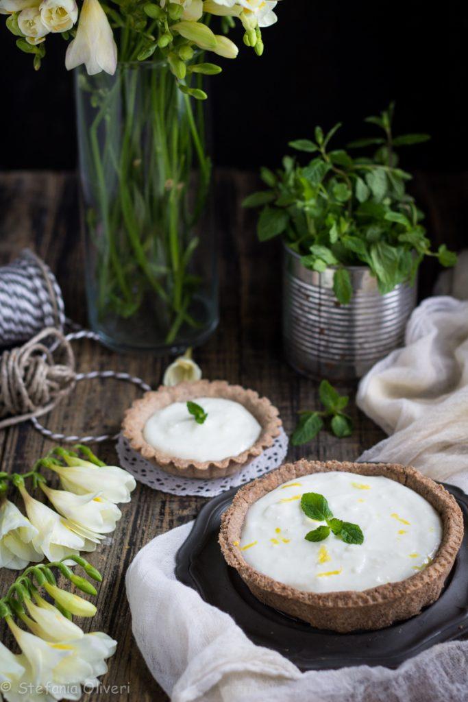 Crostata con crema al mojito senza glutine - Cardamomo & co