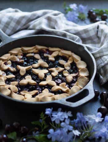 Crostata con pasta frolla allo yogurt senza glutine e senza burro - Cardamomo & co
