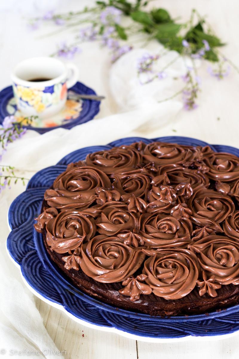 Torta con crema alla Nutella senza glutine - Cardamomo & co