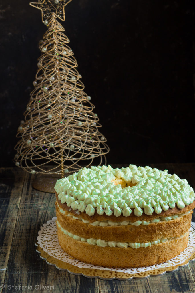 chiffon cake con crema al pistacchio senza glutine - Cardamomo & co