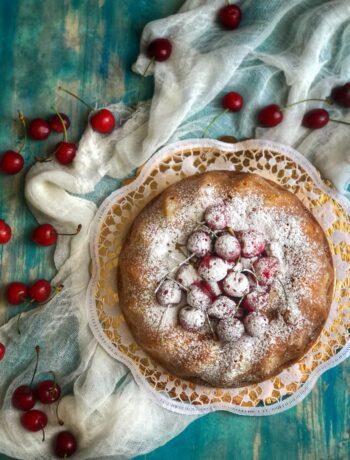 Torta con ciliegie senza glutine - Cardamomo & co